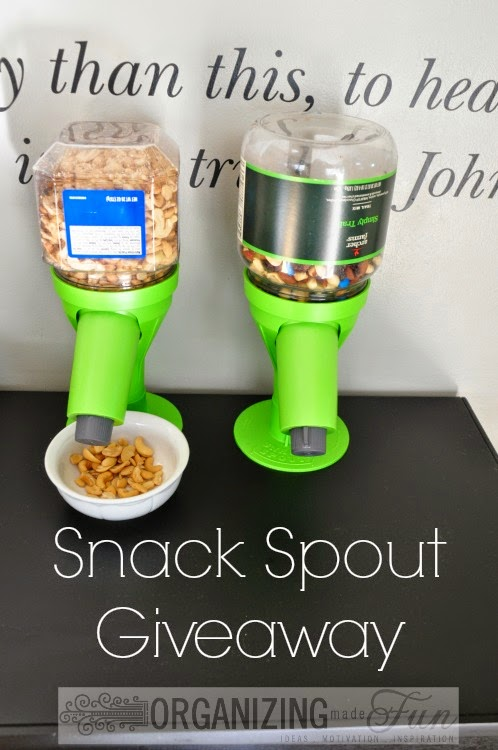 Snack Spout Giveaway :: OrganizingMadeFun.com