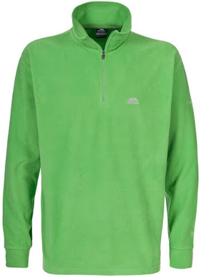 Trespass Men's Masonville AirTrap100 1/2 Zip Fleece Jumper - Cricket
