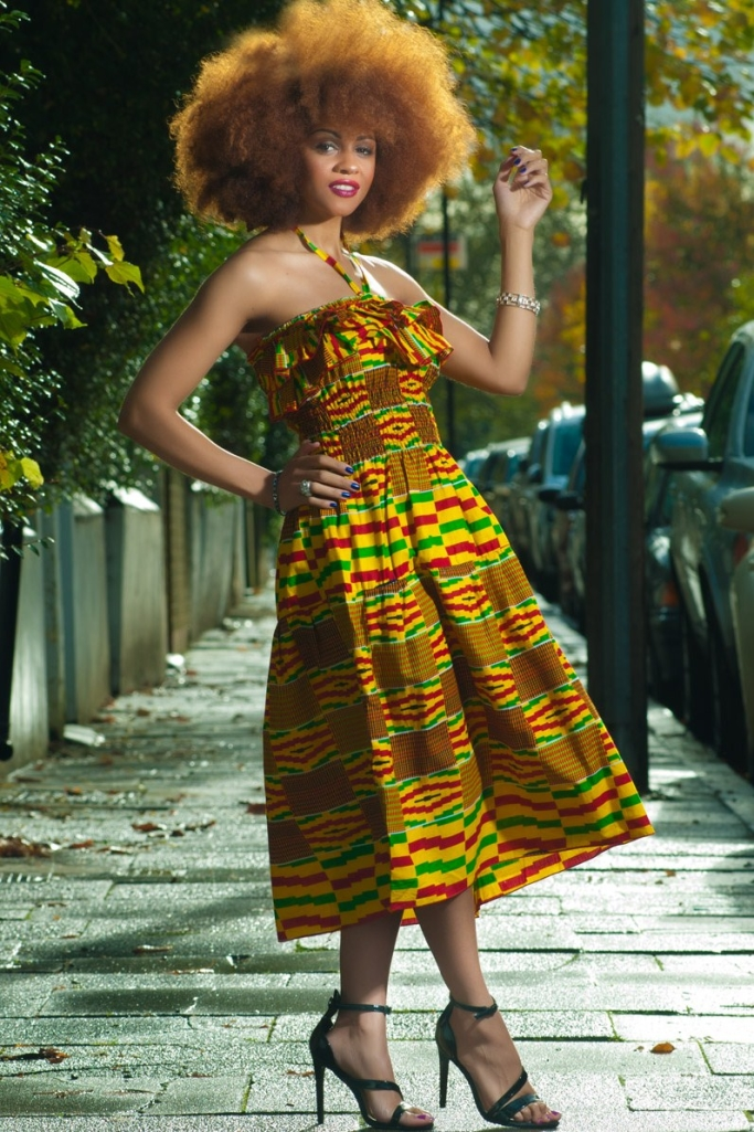 kente inspired dress