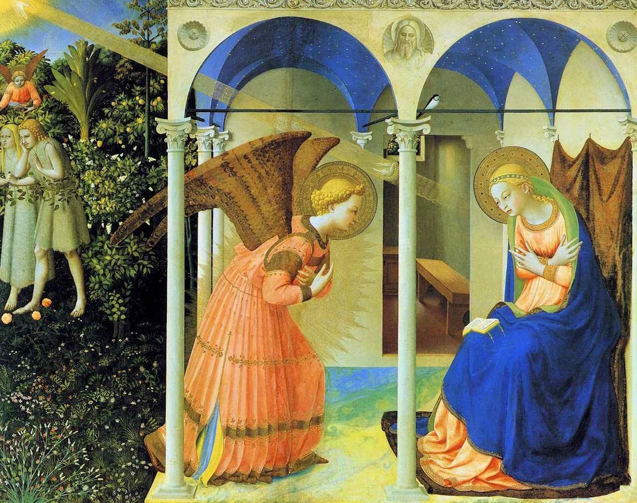 Anunciação, Museu del Prado, Madri. Beato Fra Angélico (1395 – 1455)