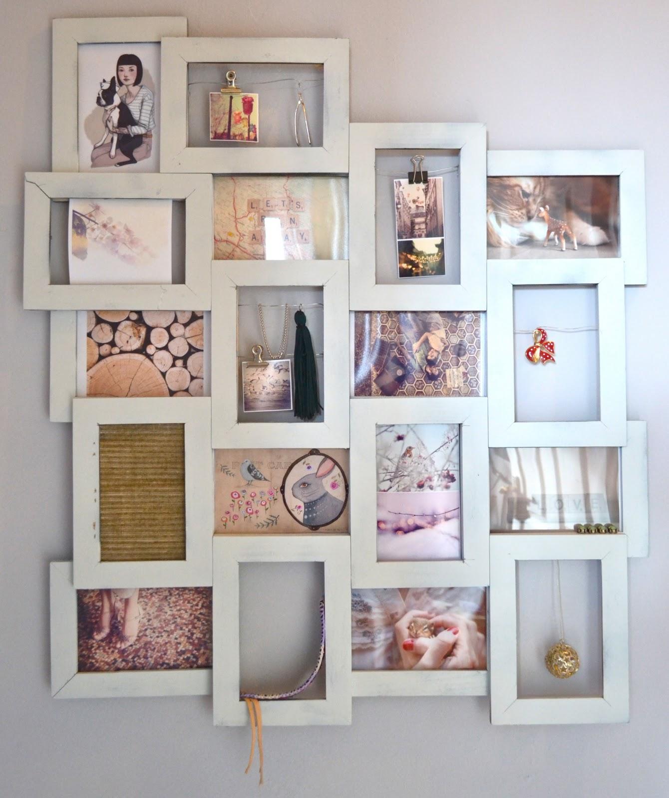 diy frame collage. Black Bedroom Furniture Sets. Home Design Ideas