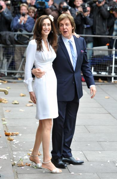 Paul McCartney Married With Nancy Shevell @ London