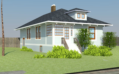 3d Modeling Rendering Bungalow Elevation Of Bungalow