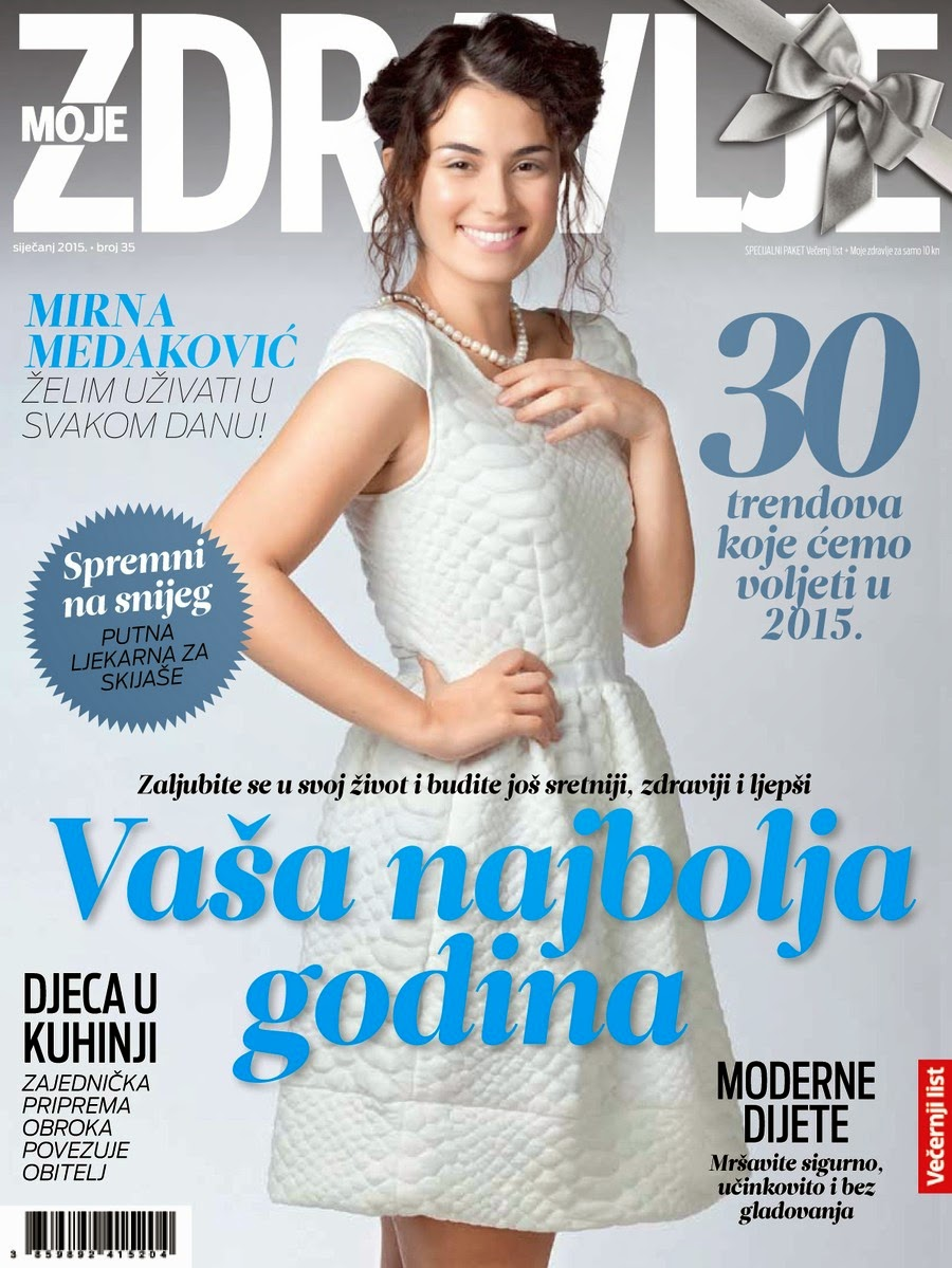 Television, Film Actress: Mirna Medakovic For Moje Zdravlje Magazine, Croatia