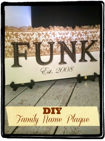 Family Name Plaque, DIY Name Crafts