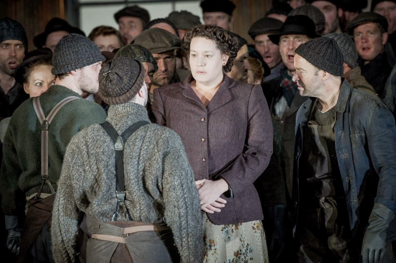 Elza van Heever and members of ENO in David Alden's production of Britten's Peter Grimes, ENO. Picture credit Robert Workman