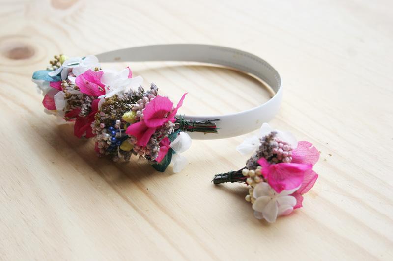 DEF Deco - Decorar en familia: Diy diadema de flores preservadas y secas7