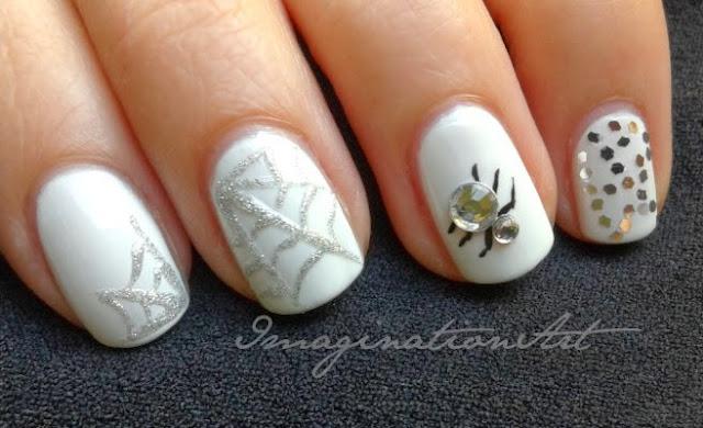 nail art halloween ragni spider