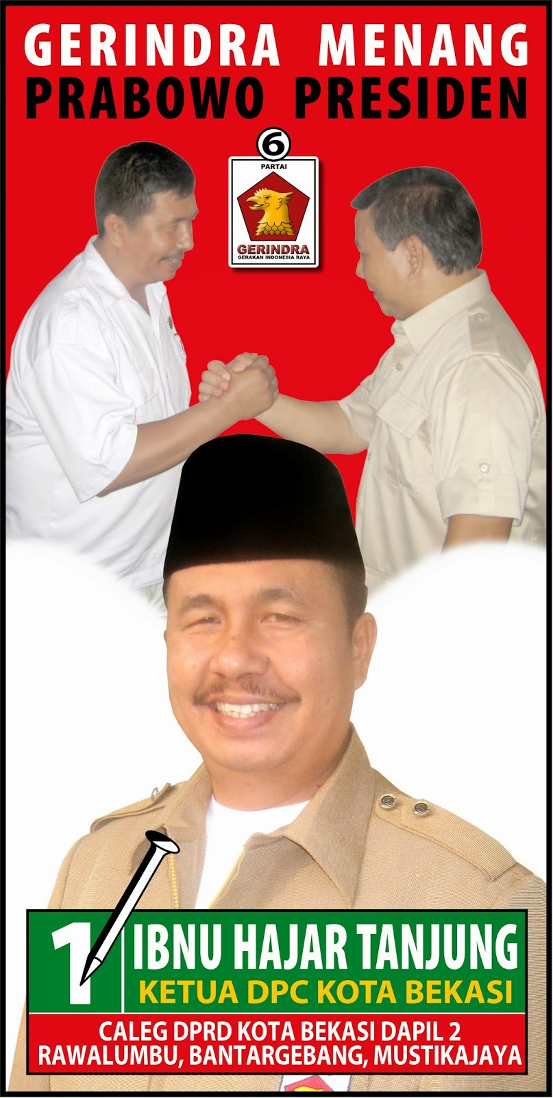 Ibnu Hajar Tanjung, Caleg DPRD Kota Bekasi, dapil 2, Bantar Gebang, Mustika Jaya dan Rawalumbu