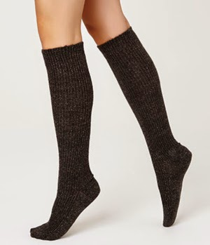 calcetines gruesos largos Oysho