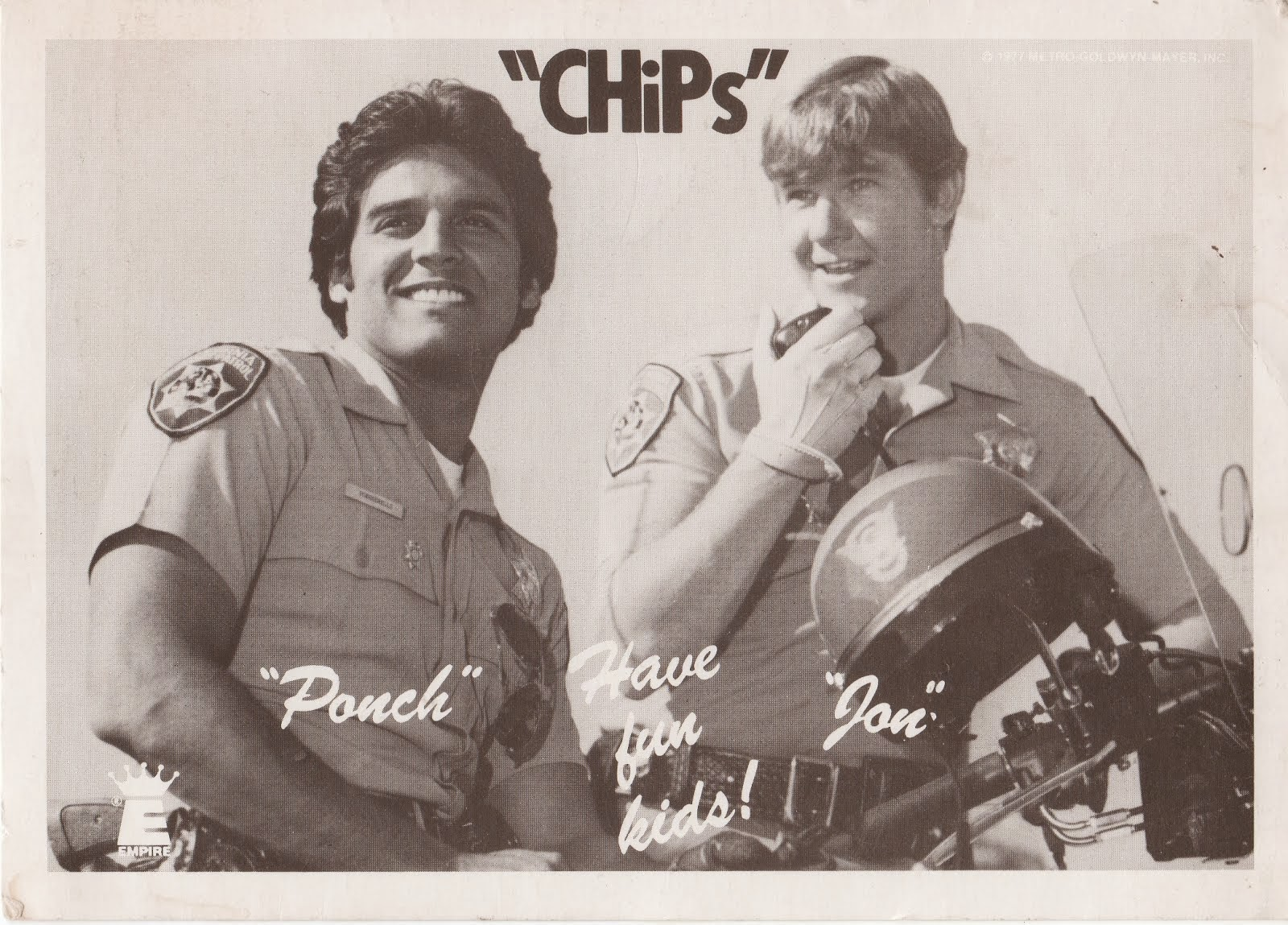 Thomas Q Kimball Fan Of Chips Ponch and Jon with Erik Estrada and Larry Wilcox