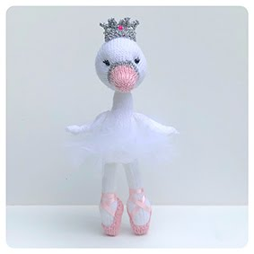 The Little Ballerina Swan and Flamingo