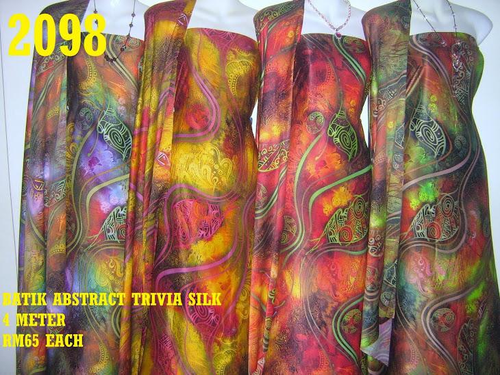2098: BATIK ABSTRACT TRIVIA SILK, LEMBUT, SEJUK DAN SELESA, 4 METER