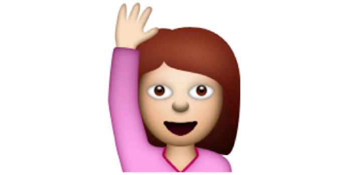Resultado de imagem para emoji mão levantada