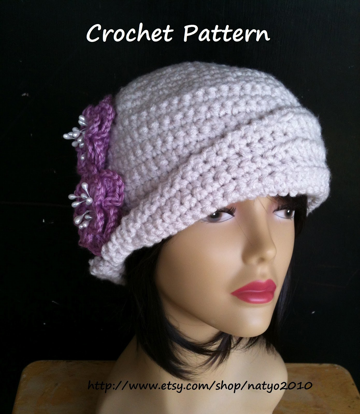 Crochet Pattern For A Cloche Hat : Best Patterns: Cloche Hat and Loose Mint Newsboy Hat ...