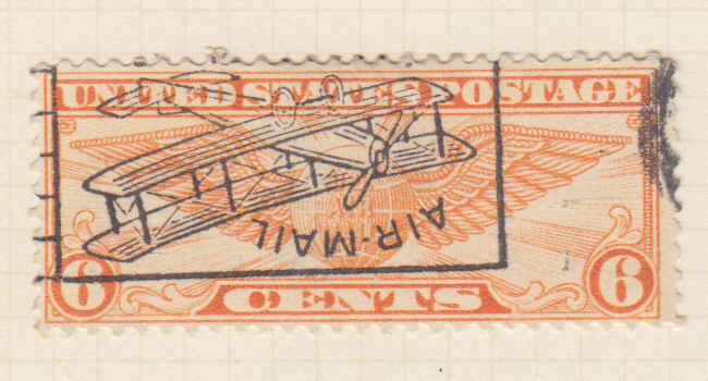 United States Of America A 1939 Airmail Postage Stamp Overprint Upsidedown
