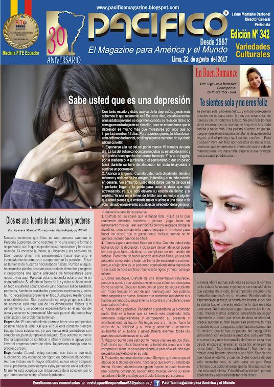 Revista Pacífico Nº 342 Variedades Culturales