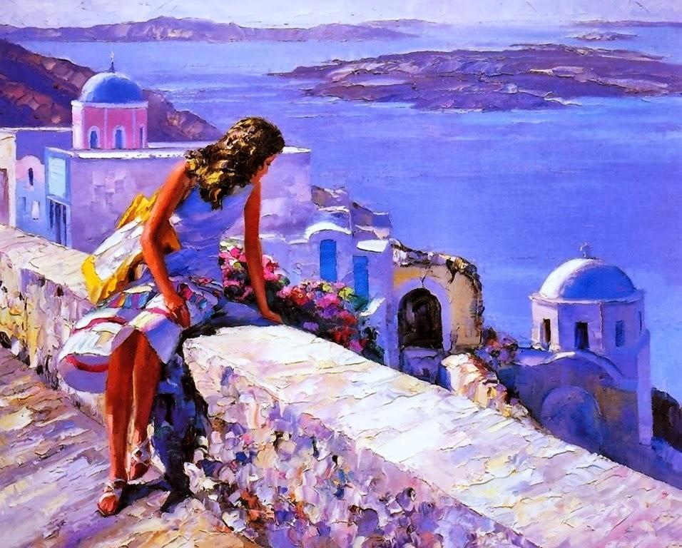 Cuadros modernos pinturas y dibujos cuadros de paisajes - Pintura cuadros modernos ...