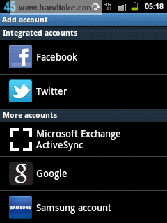 Add Account (FB dan Twitter)