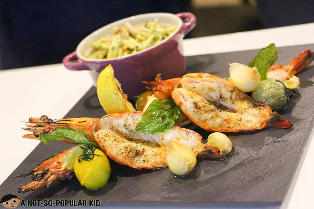 Presto, a fresh shrimp dish, by Il Ponticello