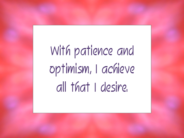 PATIENCE affirmation