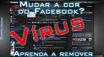 Como removover o vírus Aprendi como mudar a cor do Facebook