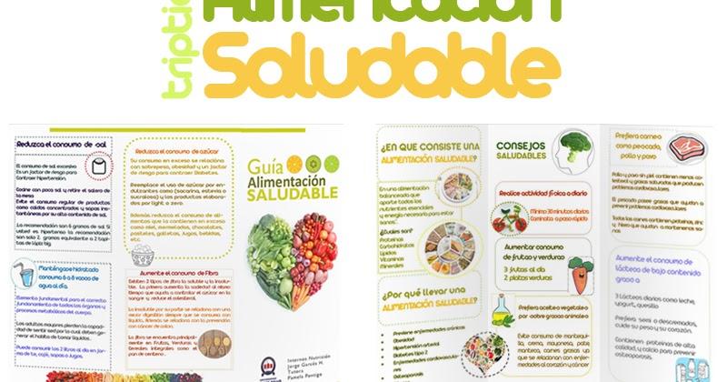 JORGE GARCÉS NUTRICIONISTA: Triptico Alimentación