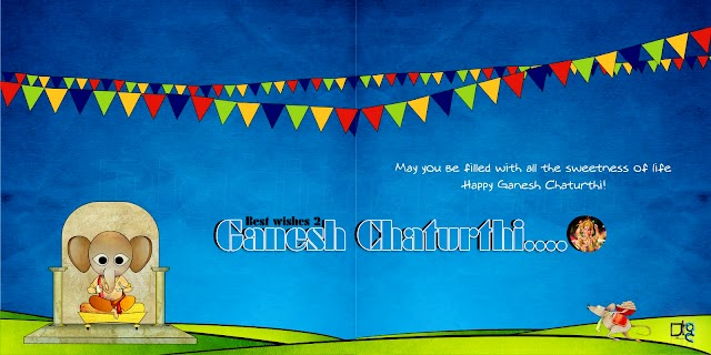 May you be filled with all the sweetnessof life  Happy Ganesh Chaturthi..! Greetings  in HD Quality Wallpapers free 1600x900 high resolution