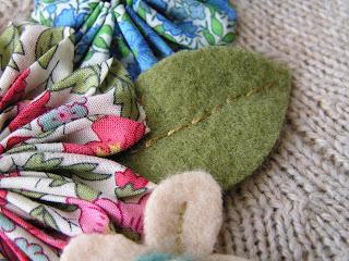 Вдохновлялочка Марриэтты.  Декорирование старого жакета цветами из ткани и кружевами.