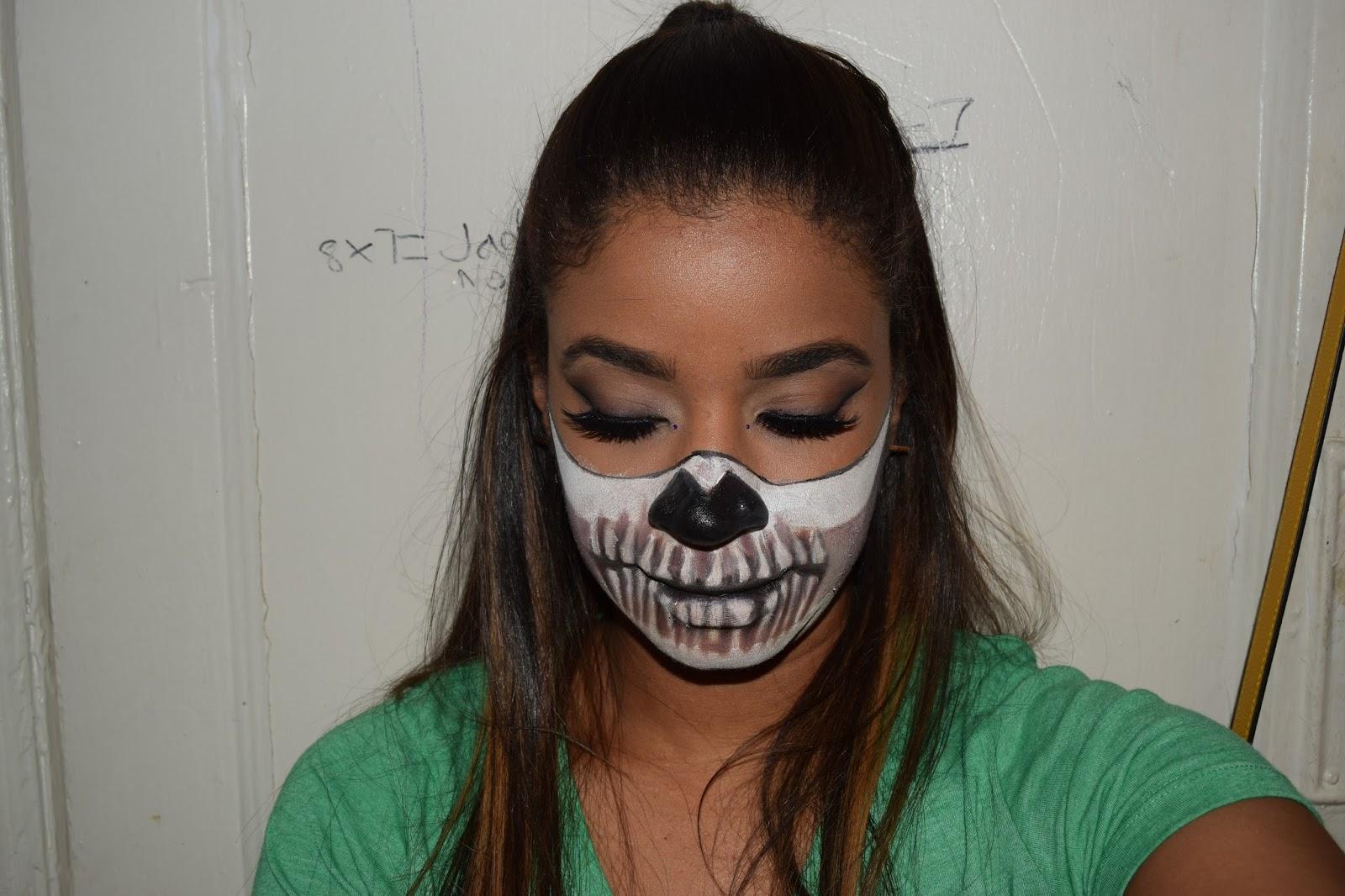 Havtastic: Halloween Look: Half-Skull Mask