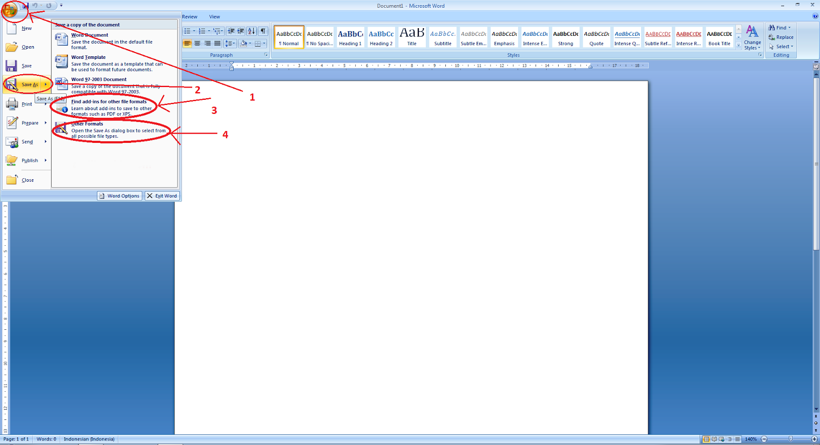 word to pdf extension for word 2007