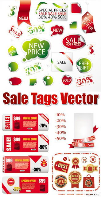 Sale Tags & Labels Design Elements