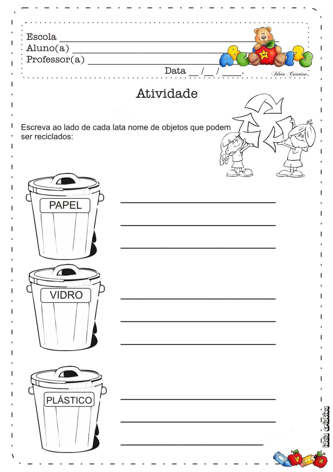 Atividade Meio Ambiente/ Coleta de Lixo