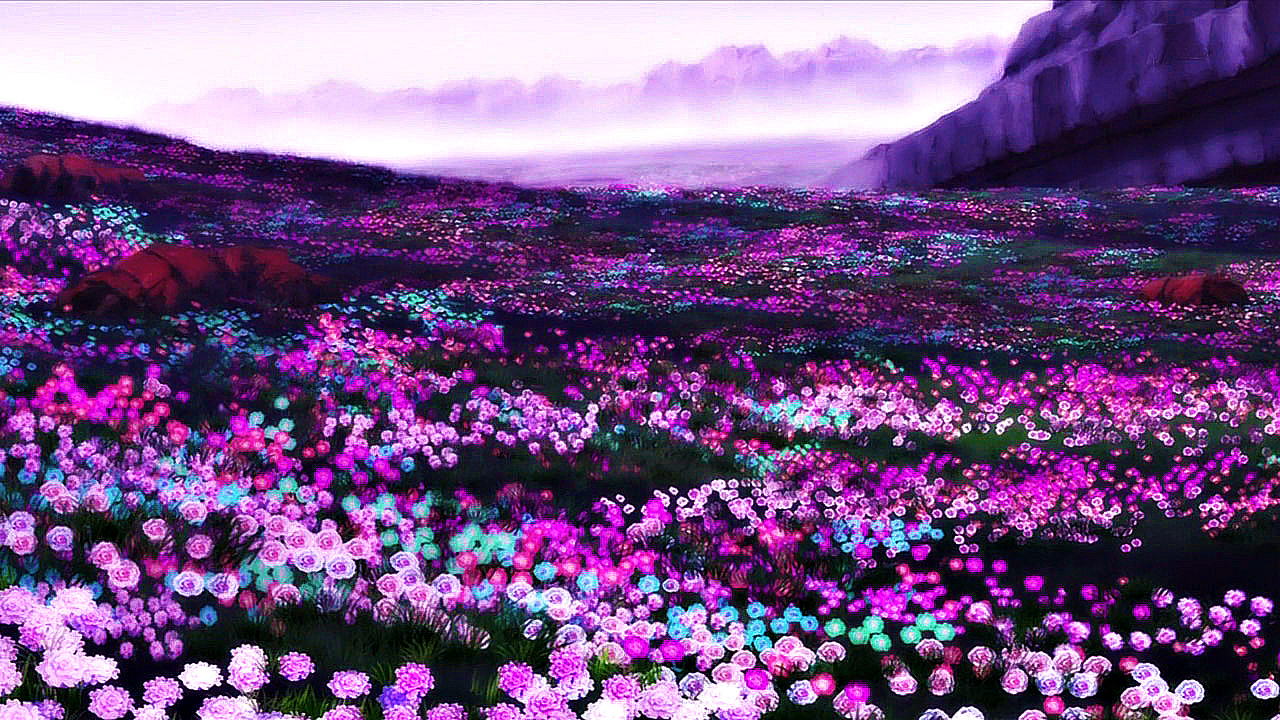 From out of the purple for Flower landscape