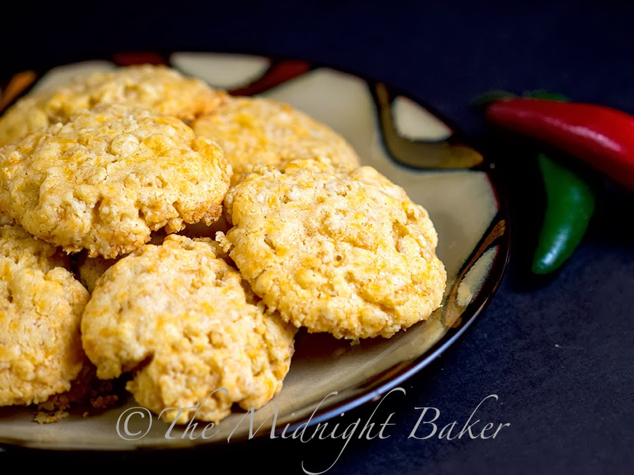 Crispy Cheddar Bacon Cookies - The Midnight Baker