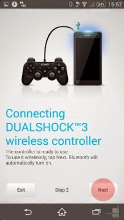 Cara menghubungkan controler PS 3 ke Sony Xperia