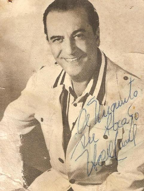 Autografo firmado por Hugo del Carril