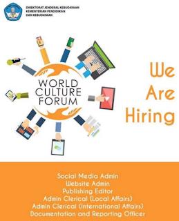 Kemendikbud Buka Pendaftaran Acara World Culture Forum 2016