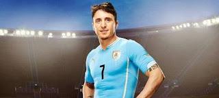 Le maillot de l'Uruguay de la Coupe du monde 2014