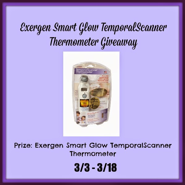 Enter the Exergen Smart Glow TemporalScanner Thermometer Giveaway. Ends 3/18