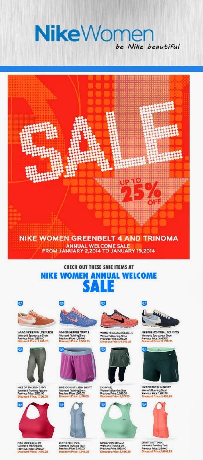 Sale Alert: Nike Women up to 25% Off (Greenbelt 4 & TriNoma)