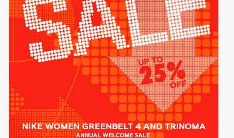 Sale Alert: Nike Women up to 25% Off (Greenbelt 4 & TriNoma)