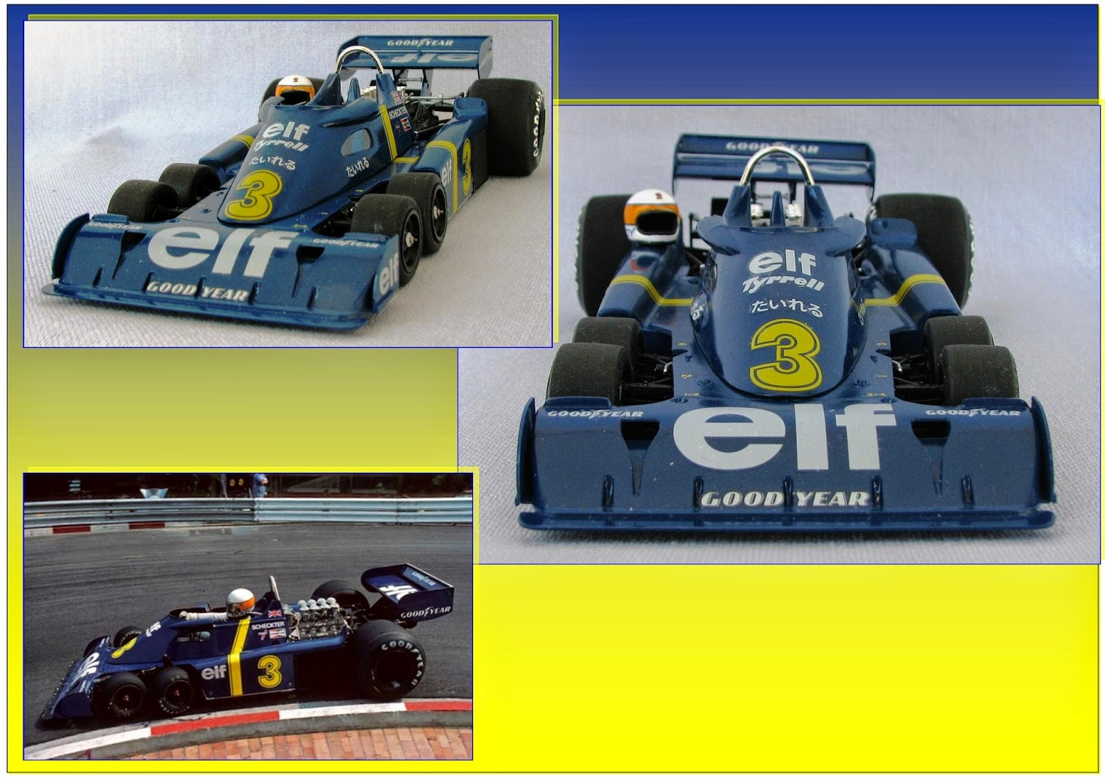 en mod u00e8le r u00e9duit  tyrrell p34 six roues version gp du japon