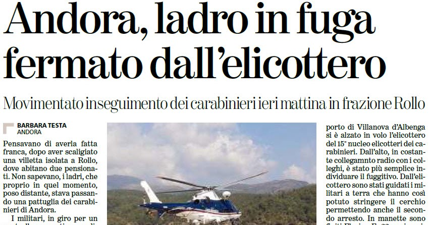 Alassiofutura andora arrestati due ladri di origini for Diretta da montecitorio
