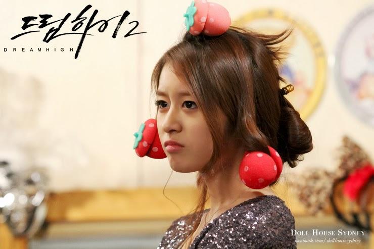 jiyeon_tara_dream_high2_strawberry_hair_curler_roller_sponge_curls_2013