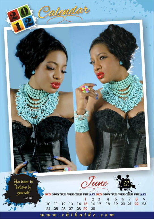 Too Late?? Actress Chika Ike Unveils 2012 Calendar. 7