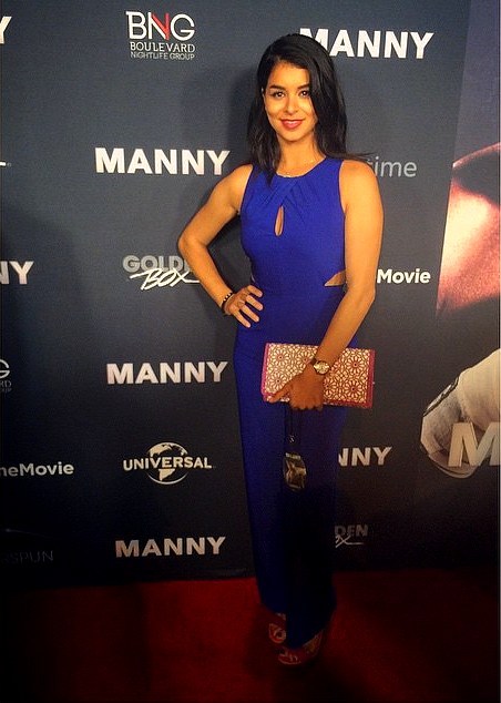 Rima Fakih - Miss USA 2010 on the red carpet at Manny Pacquiao's movie premiere in Los Angeles