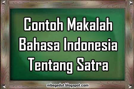 Contoh Artikel Ilmiah Sastra Indonesia - Contoh O