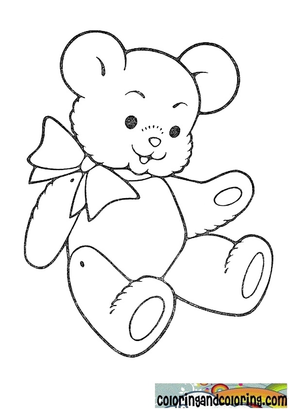 Holidays Coloring Pages Teddy Bear Teddy Bear Coloring Pages