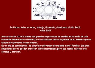 Horoscopo Anual para Aries 2016